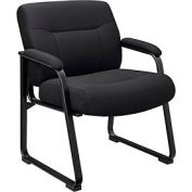 Big and Tall Waiting Room Chair - Fabric - High Back - Black