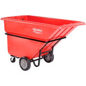 Deluxe Red Heavy Duty Plastic Tilt Truck 1 Cubic Yard and 1250 Lb. Capacity