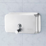 Global Industrial™ Stainless Steel Horizontal Liquid Soap Dispenser - 1000 ml
