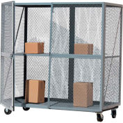 Ouvrez Mesh Steel Security Truck 72x30 Gray - OST3072R-G