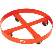 "Modern Equipment MECO 436R Round Drum Dolly for 55 Gal. Drums 3"" Polyolefin 900 Lb."