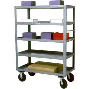 Modern Equipment MECO SC2460-5 Five Shelf Service Cart 24x60 Rubber 800 Lb.