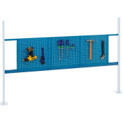 "Panel Kit for 72""W Workbench with 18""W and 36""W Pegboards, Mounting Rail - Blue"