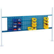 """Global Industrial™ Panel Kit for 72""""W Workbench - 18""""W and 36""""W Louvers, Mounting Rail Blue"""