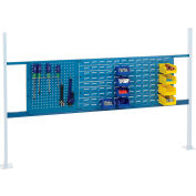 """Global Industrial™ 18"""" Pegboard & 36"""" Louver Panel Kit, 72""""W, Blue"""
