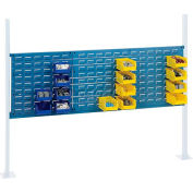"""Global Industrial™ Panel Kit for 60""""W Workbench - 18""""W and 36""""W Louvers, Mounting Rail Blue"""