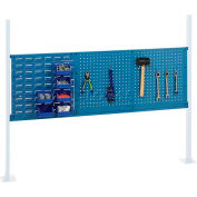 """Global Industrial™ 36"""" Pegboard & 18"""" Louver Panel Kit, 60""""W, Blue"""