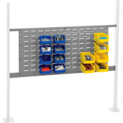 """Panel Kit for 48""""W Workbench with 36""""W Louver, Mounting Rail -Gray"""