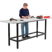 "Global Industrial™ 96""W x 30""D Standing Height Workbench - Plastic Laminate Square Edge - Black"