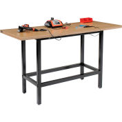 "Global Industrial™ 72""W x 30""D Standing Height Workbench, Shop Top Square Edge - Black"