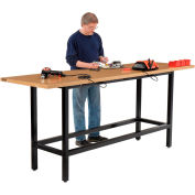 "Global Industrial™ 96""W x 30""D Standing Height Workbench, Shop Top Square Edge - Black"
