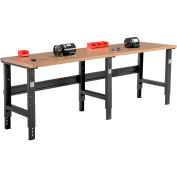Global Industrial™ 96x30 Adjustable Height Workbench C-Channel Leg - Shop Top Square Edge Black