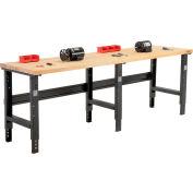 Global Industrial™ 96x30 Hauteur réglable Workbench C-Channel Leg - Birch Square Edge - Noir