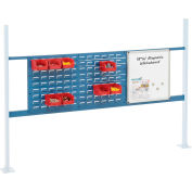 """Global Industrial™ 36"""" Louver & 18"""" Whiteboard Panel Kit, 72""""W, Blue"""