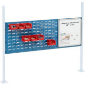 """Global Industrial™ 36"""" Louver & 18"""" Whiteboard Panel Kit, 60""""W, Blue"""