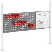 """Panel Kit for 60""""W Workbench with 18""""W Whiteboard and 36""""W Louver, Mounting Rail - Gray"""
