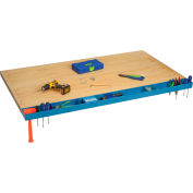 """Global Industrial™ 60""""W Workbench Tool Organizer and Sorting Tray - Blue"""