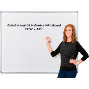 Global Industrial™ Melamine Dry Erase Whiteboard - 72 x 48 - Double Sided