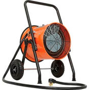 Global Industrial™ Salamander Heater Portable Electric Fan Forced 8' Cord 240V 10KW 1PH 41.7A