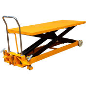 Wesco® Long Deck Mobile Scissor Lift 273230 with Oversized 80 x 30 Table Top 2200 Lb. Capacity