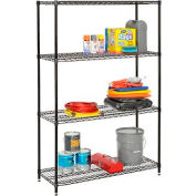 "Nexel Best Value Wire Shelving Unit 36""W x 18""D x 74""H (400 lb shelf cap) Black Epoxy"