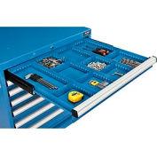"Divider Kit for 3""H Drawer of Global™ Modular Drawer Cabinet 30""Wx27""D, Blue"