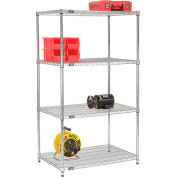 "74""H Nexel Chrome Wire Shelving - 36""W X 24""D (400 lb cap)"