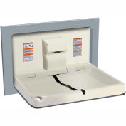 ASI® Horizontal Stainless Steel/Plastic Baby Changing Station, Light Gray - 9018