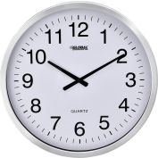 "Oversized Wall Clock - 20"" - Aluminum"