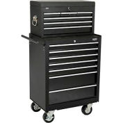 "Global™ 27"" 7-Drawer Roller Tool Cabinet W/ Ball Bearing Slides 27"" Top Tool Chest Combo"