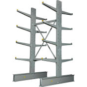 """Global Industrial™ Double Sided Heavy Duty Cantilever Rack Starter, 2"""" Lip, 48""""Wx60""""Dx8'H"""