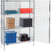 "Nexel® Chrome Security Shelving Unit, 2 E-Z Adjust Shelves, 36""W x 14""D x 66""H"