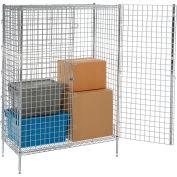 "Nexel® Poly-Z-Brite® Security Shelving Unit 48""W x 24""D x 66""H"