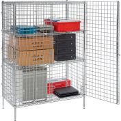 "Nexel® Chrome Security Shelving Unit, 2 E-Z Adjust Shelves, 36""W x 24""D x 66""H"