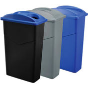 Global Industrial™ Triple Recycling 23 Gallon Trash Container System