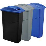 Système de trois contenants pour déchets et recyclage Global Industrial™,23 gallons