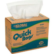 Global Industrial™ Quick Rags® General Purpose Wipers, 126 Sheets/Box, 10 Boxes/Case