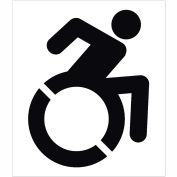 Stencil Handicapped Parking, Heavy Duty, CU-224638