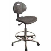 "WSI 750 Series Chair 750-ESD, ESD Polyurethane, Nylon Base, 20""-30""H, Black"