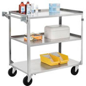 Stainless Steel Utility Cart 39-1/4 x 22-3/8 x 37-1/4 500 Lb Cap