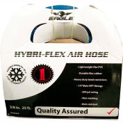 "Eagle EA3/8X25-B 3/8""x25' 300 PSI Hybrid Polymer All Weather Low Pressure Air/Water Hose"