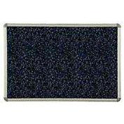 Tableau d'affichage Balt® Rubber-Tak à cadre Euro – 72po larg. x 48po haut., bleu