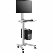 Global Industrial™ Mobile Height Adjustable Desktop Computer Workstation