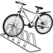 Global Industrial™ Bicycle Parking Rack, Adjustable, 5-Bike Capacity, Single Sided Version
