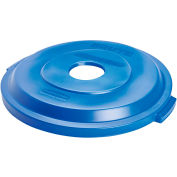 Rubbermaid Brute® Bottle/Can Recycling Lid for 32 Gallon Can Blue - 1788376 - Pkg Qty 6