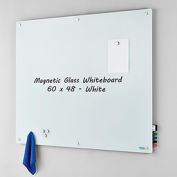 Magnetic Glass Whiteboard - 60 x 48 - White