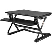 Interion® Height Adjustable Sit Stand Desk - Full Width Keyboard