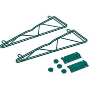 "18"" Single Arm Fixed Wall Bracket (Pair) Green"