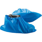 Water Resistant Disposable Shoe Covers, Size 12-15, Blue, 150 Pairs/Case