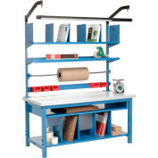 """Global Industrial™ Complete Packing Workbench, Laminate Square Edge, 60""""W x 30""""D"""